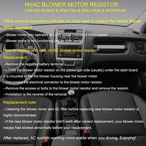 Amazon Faersi Hvac Fan Blower Motor Resistor For 2007 Kia Rondo Rhamazon: 2007 Kia Spectra Blower Resistor Location At Gmaili.net