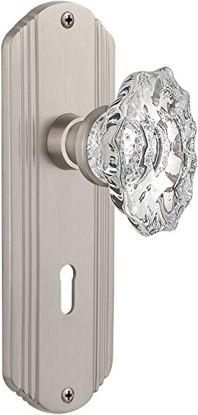 Nostalgic Warehouse Deco Plate With Keyhole Chateau Knob Mortise Satin Nickel Amazon Com