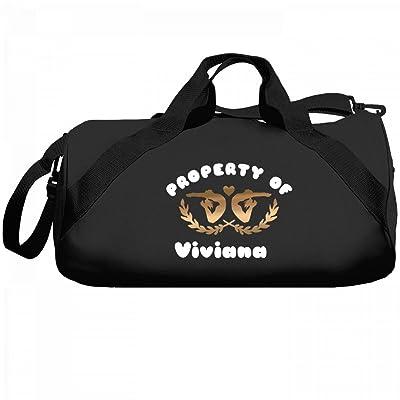 Gymnastics Property Of Viviana: Liberty Barrel Duffel Bag