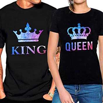 Bangerdei King and Queen Couples Matching T-Shirts