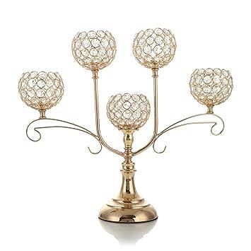 Vincigant Gold Kristall Kerzenhalter Fur Hochzeit Feier Haus