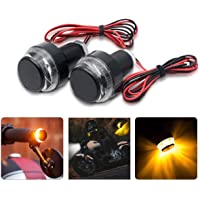 Motorbike Handlebar Light 2 x Motorbike Turn Signal LED Lights Motorcycle Indicator Lamps Blinker Handle Bar End for 22mm Dia Handlebar
