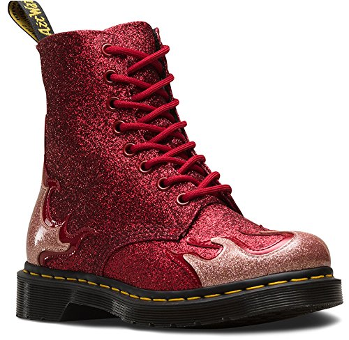 Rosa Rockabilly Rosso Ankle Red 1460 Flaming Pink Pascal Hotrod Boots Glitter Rockabilly Martens Glitter Rosa Fiammante Pink 1460 Stivaletti Dr Dr Martens Pascal Hotrod WwYTvq8xgY