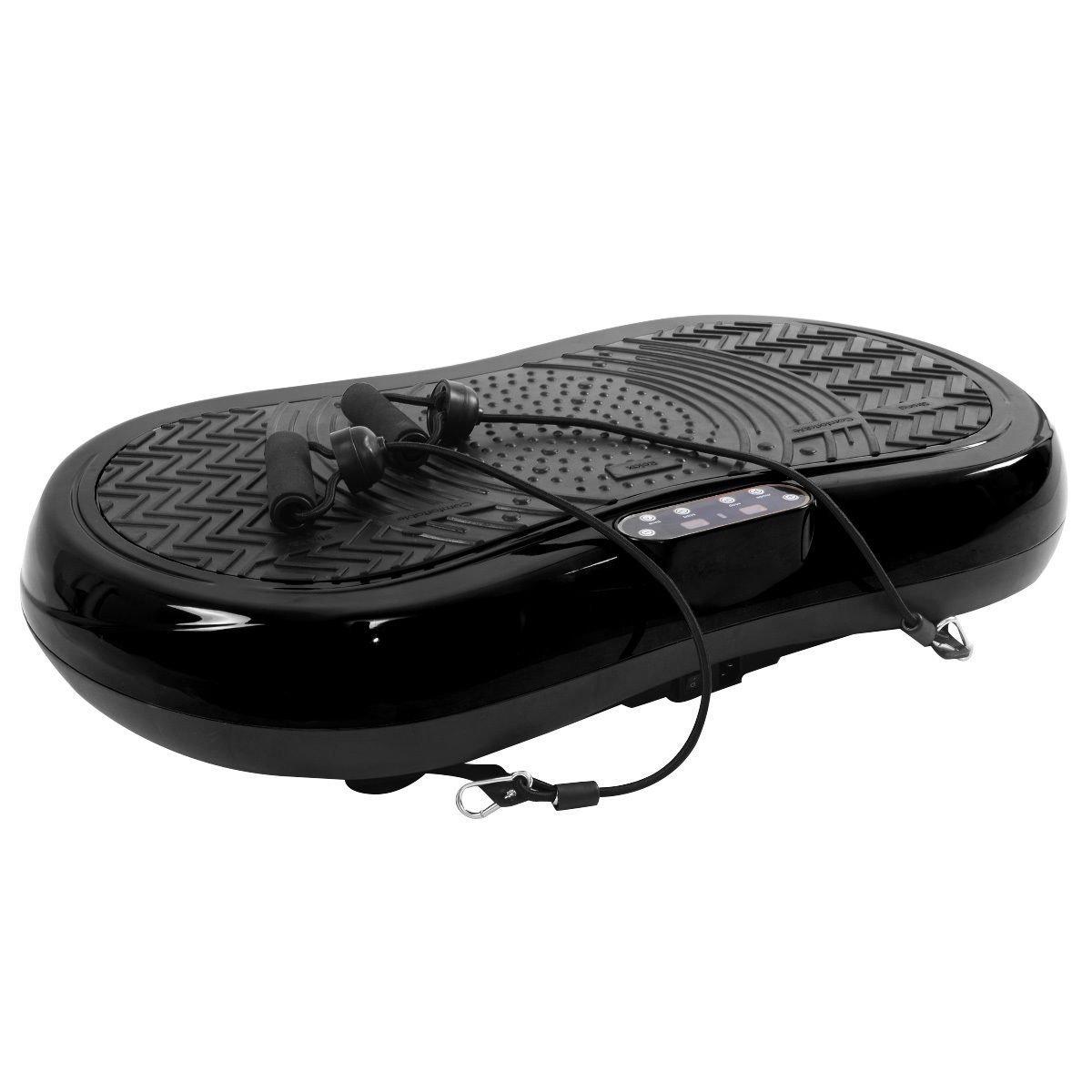 Tangkula Ultrathin Mini Crazy Fit Vibration Platform Massage Machine Fitness Gym (Black)