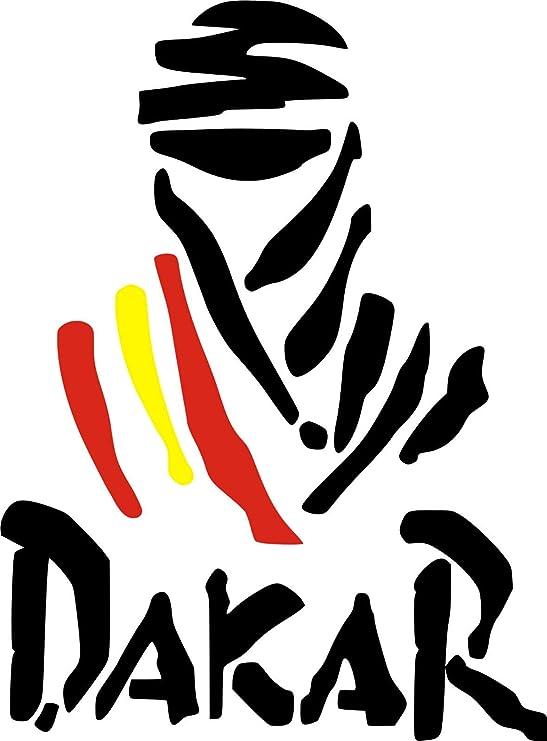 Pegatina Vinilo Logo Dakar España - Casco, Coche, Moto, Bici, Tabla Skate, etc. Kit de 2 Pegatinas …: Amazon.es: Hogar