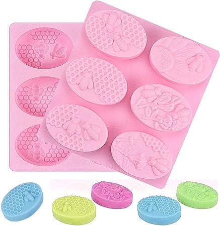 per cuocere cubetti di ghiaccio muffin caramelle a nido dape sapone Confezione da 3 stampi in silicone per fondente e torte cioccolato