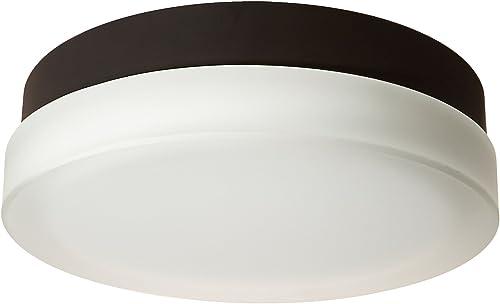 WAC Lighting FM-4109-30-BZ 9in Round Soft White Bronze Slice LED Flush Mount, 9 Inches