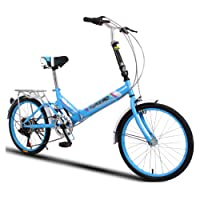 Folding Bikes Women's universal 6-speed 20-inch wheels Compact Foldable Bike