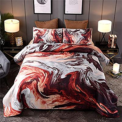 Sisher Watercolor Bedding Comforter Sets, Queen Size Marble Comforter with Artwork Oil Painting Design,3 Pcs Ultra Soft Quilt Set - Soft & comfy fabric - The comforter set is crafted from microfiber, breathable and hypoallergenic, More durable than cotton, will keep you comfortable, cozy and snugly all the night Intended use - Marble Geometry Pattern Bedding Set can be used as quilt in spring and summer, bedspread or sheets used in the winter. Retro but in style, suit for boys, girls, teens, student, women and men Durable construction - Crafted with care, we create our comforters with box and channel stitching to ensure the fill does not shift while you slumber. Fit for all seasons, enjoy the airy feel of the comforter in the summer, and curl up into warmth in the colder months - comforter-sets, bedroom-sheets-comforters, bedroom - 61td8je9TuL. SS400  -