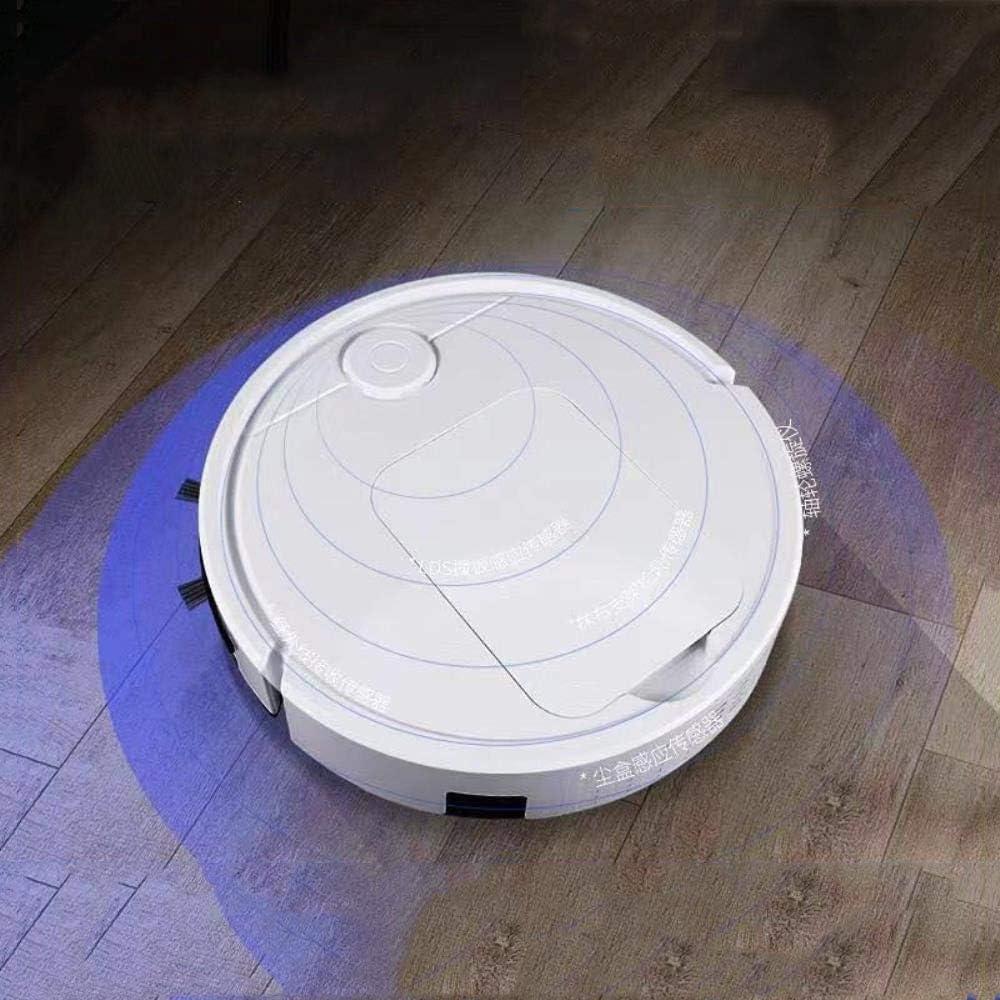 Thumby Aspirateur Robot de Balayage de Touche Automatique Intelligent Paresseux Machine de Nettoyage de Balai de Lavage de Balayage jianyu (Color : White) White