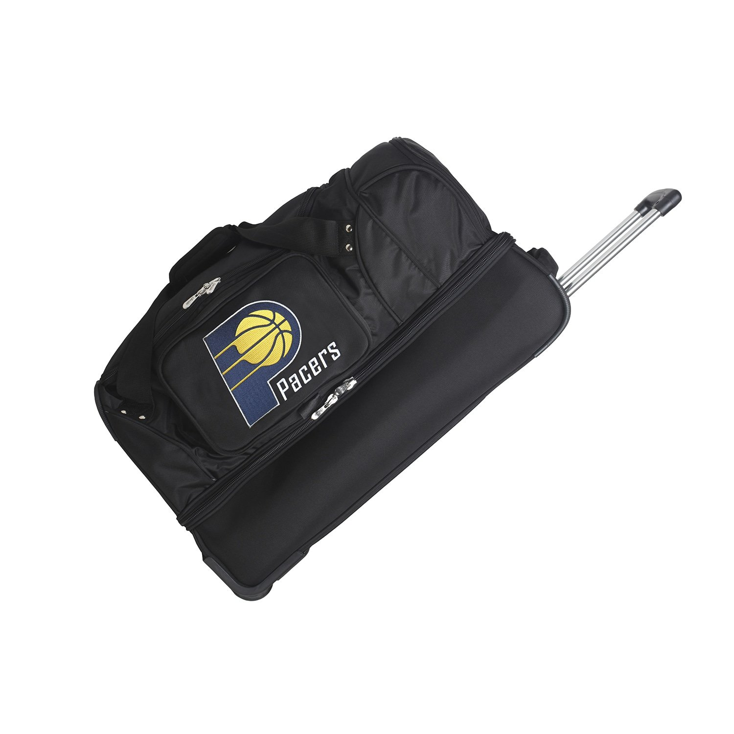 DENCO INDIANA PACERS 27 INCH 2-WHEELED DROP BOTTOM DUFFEL