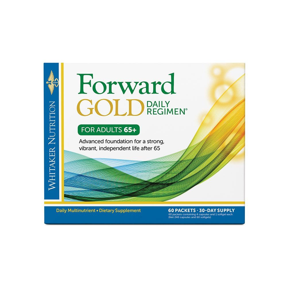 Dr. Whitaker s Forward Gold Daily Regimen Multi-Nutrient Vitamin Supplement for Adults 65 , 60 Packets 30-Day Supply