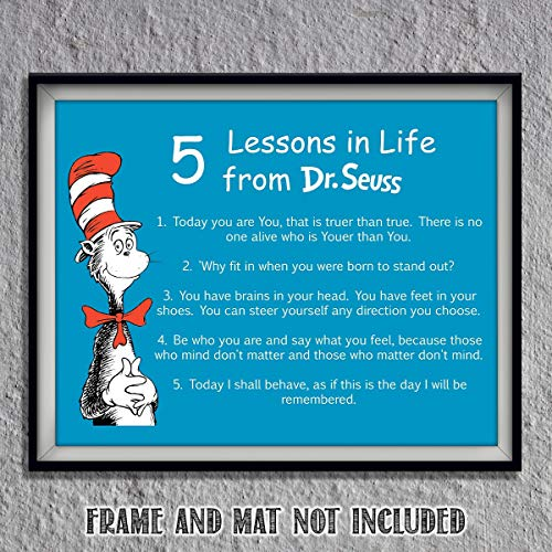 Dr. Seuss Quotes Wall Art Sign-
