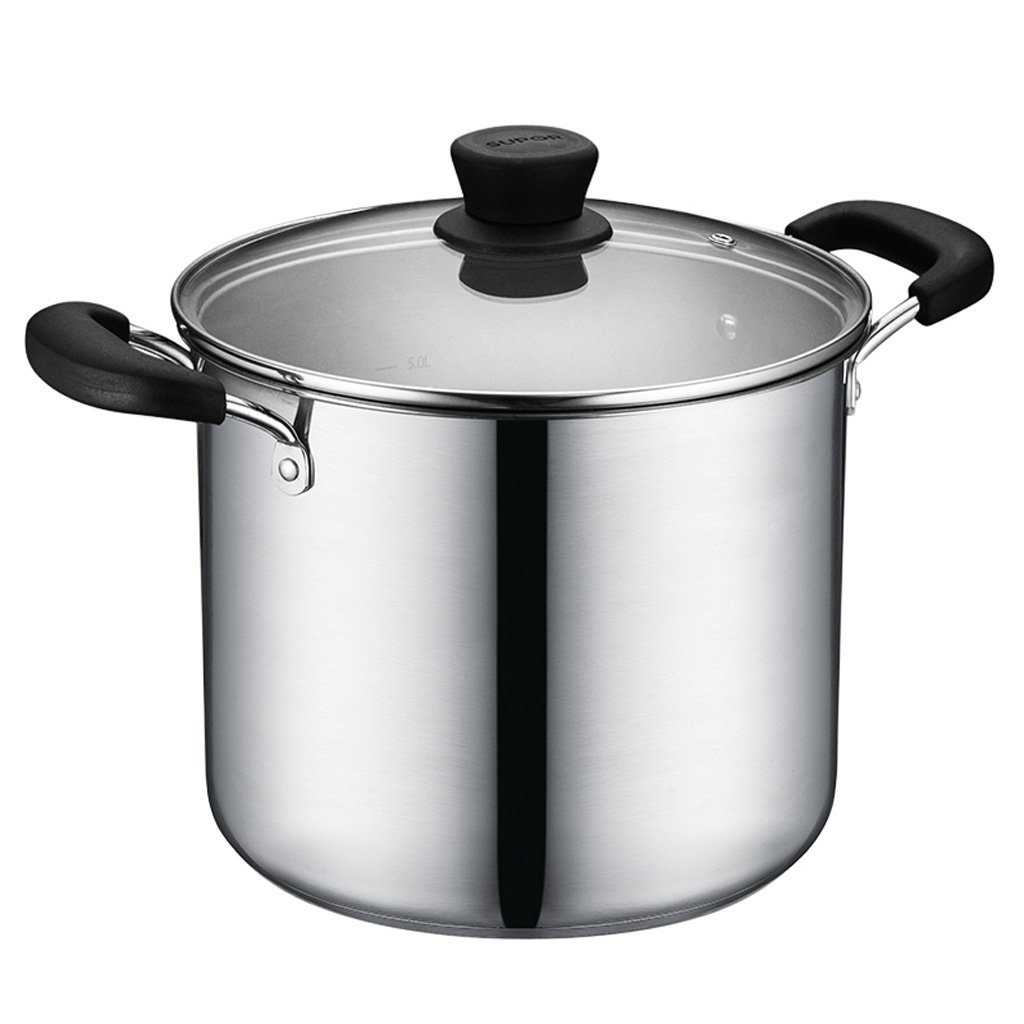Soup pot 304 Stainless Steel Soup Pot Composite Bottom Deep Type Household Multifunctional Large Capacity Soup Pot 24cm With Lid