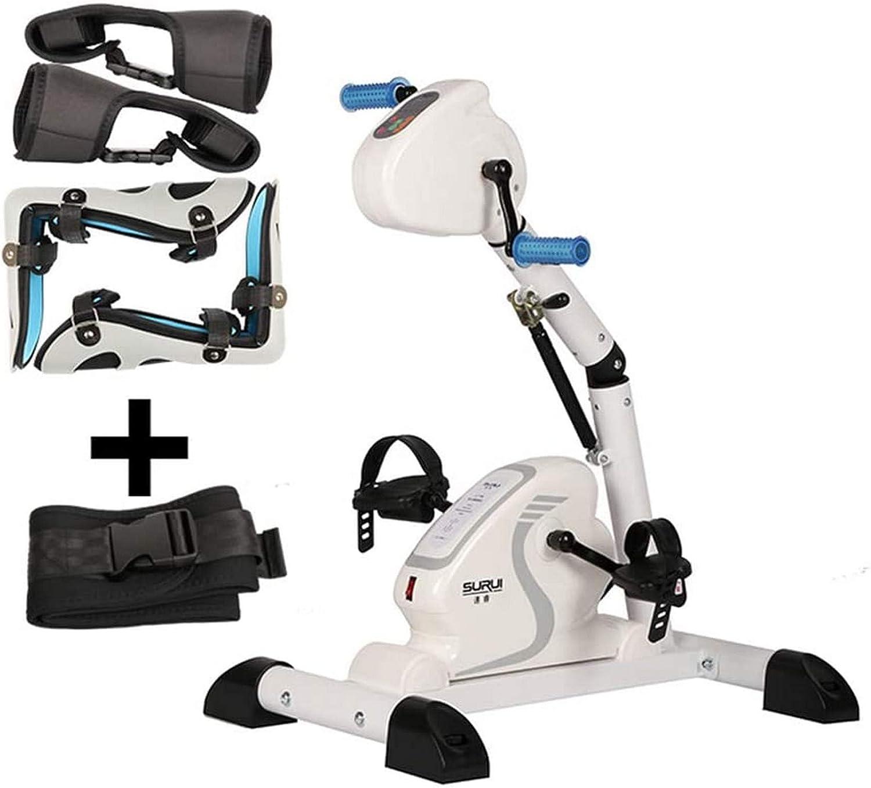 CCLLA Bicicleta eléctrica Hogar Ancianos Miembros Superiores e Inferiores Entrenador de Pedal eléctrico, Mini Equipo de Ejercicios para rehabilitación de Brazos y Rodillas hemipléjicas de Carrera *1