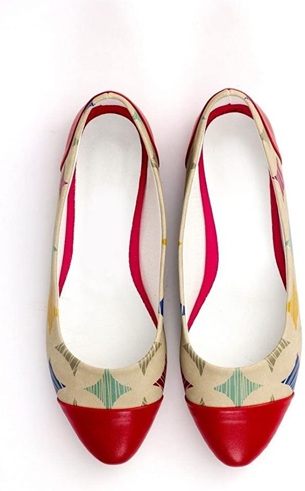 Goby Pattern Ballerinas Shoes NMS107