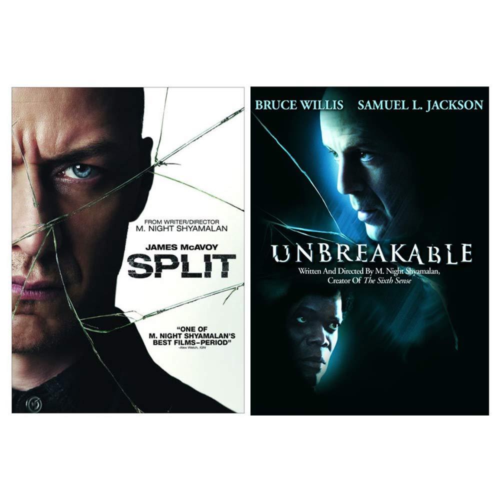 Amazon Com Split Unbreakable M Night Shyamalan Double Feature Dvd Collection James Mcavoy Bruce Willis Samuel L Jackson M Night Shyamalan Movies Tv