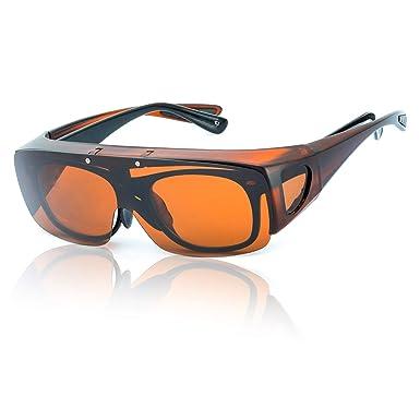 SIPHEW Gafas de Sol Polarizadas Para Colocar Sobre las Gafas Normales y de Lectura-Eliminar Reflejos Protección 100% UVA/UVB
