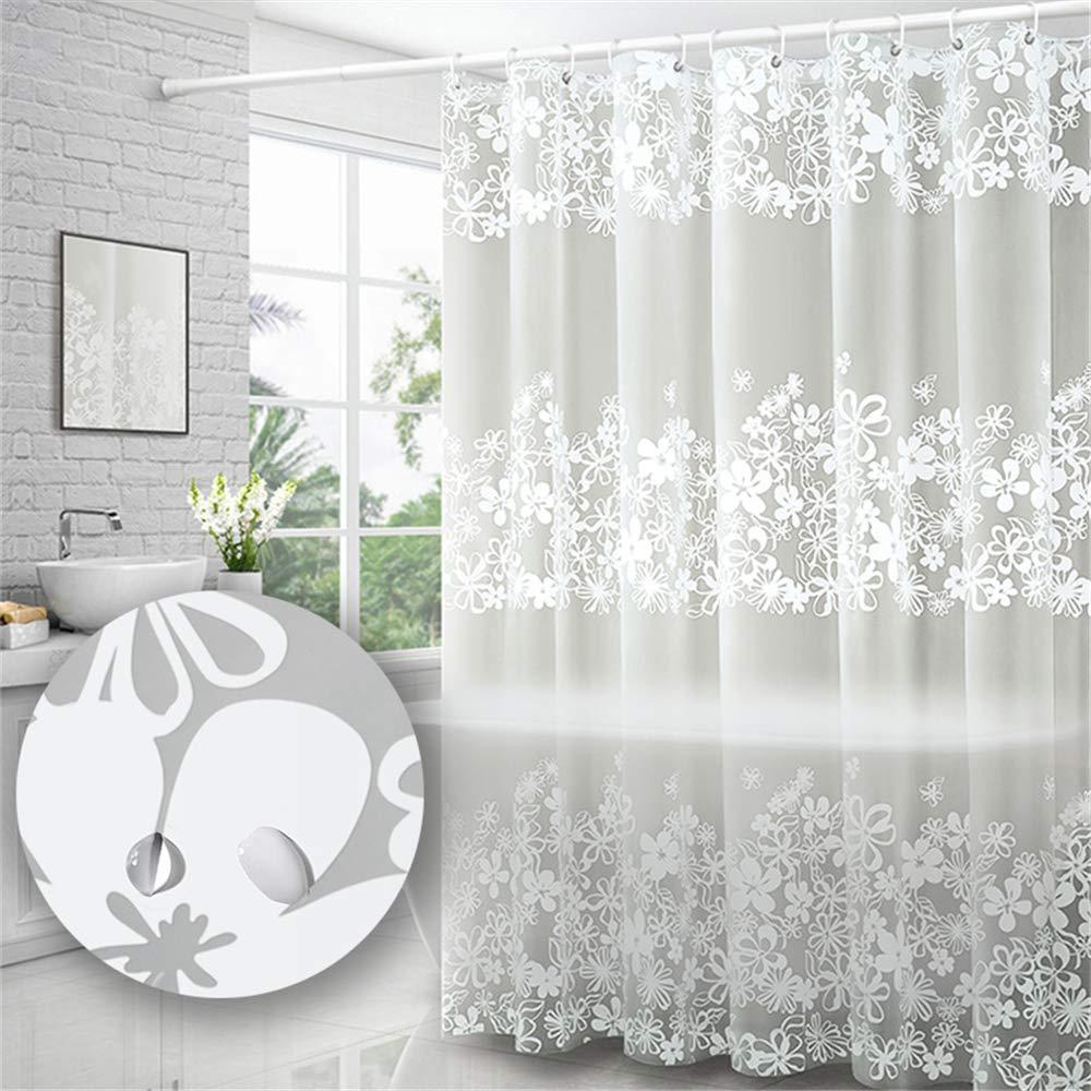Yuclock PEVA Bathroom Shower Curtain Moisture-Proof Waterproof Partition Curtain, Huaman, 200 X 220cm, Include Hook