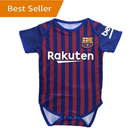 9647670cd Barcelona Baby Suit F.C. Home Cotton Red Blue Soccer Bodysuits Infant  OneSize Red Blue