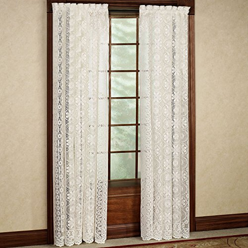 Swags Treatments Window (Sweet Home Collection Lhf-707-84-Wht Window Curtain Treatment, 84