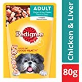 Pedigree Wet Dog Food, Chicken & Liver Chunks for Adult Dogs – 80g (Sample Pack)