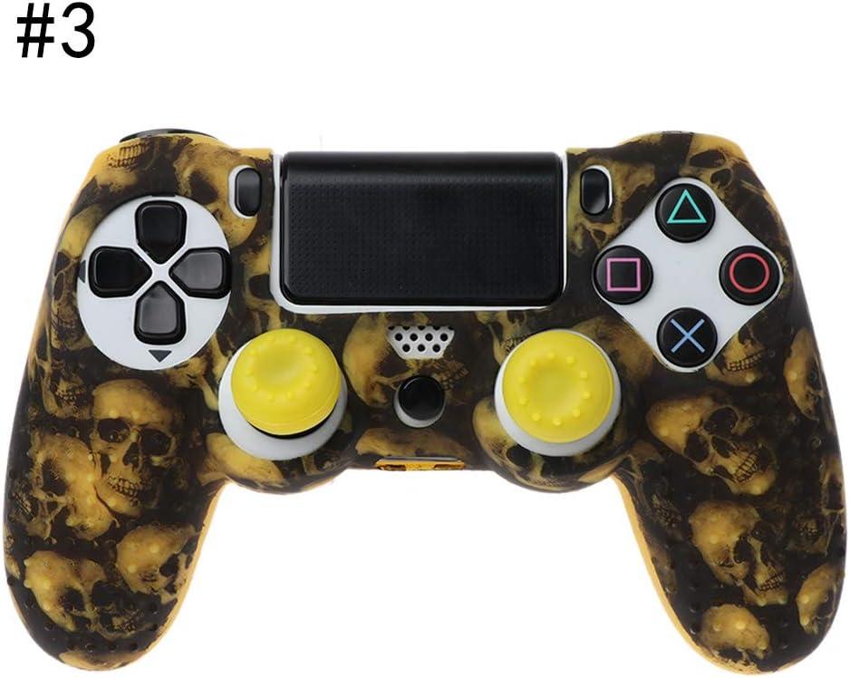 Baodanjiayou - Funda de Silicona para Mando de PS4 y PS4 Pro Controller/PS4 Slim Controller con Tapones para Pulgar: Amazon.es: Electrónica