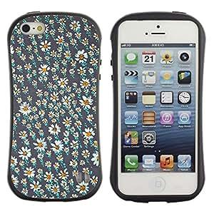 LASTONE PHONE CASE / Suave Silicona Caso Carcasa de Caucho Funda para Apple Iphone 5 / 5S / Vintage Daisy Wallpaper Spring