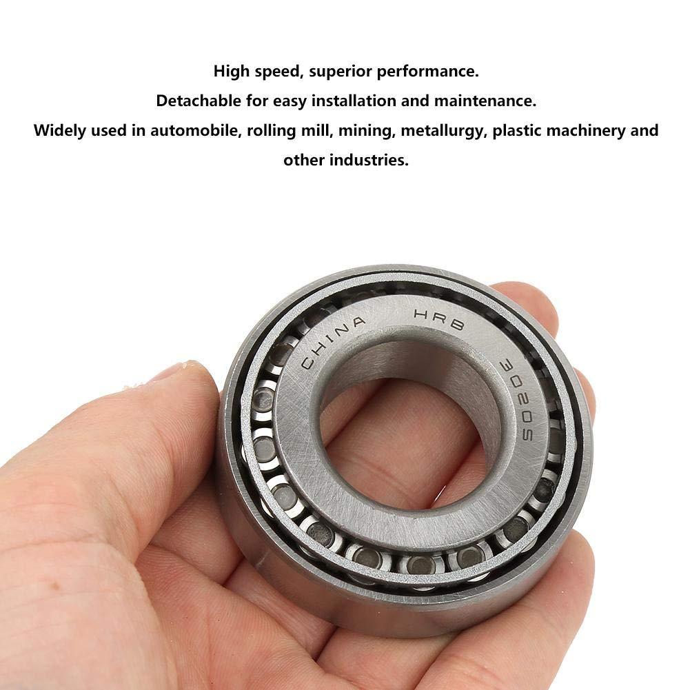 Rang/ée Simple OD: 52mm ID: 25MM 2pcs 30205 Roulement /à Rouleaux Coniques Grande Vitesse