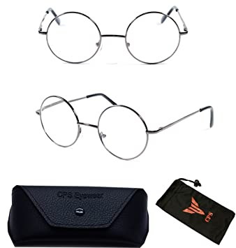 e2a69e13f8de Image Unavailable. Image not available for. Color  Gunmetal Round Oval  Reading Glasses Reader Dg Spring Hinge John Lenon Harry Potter ...