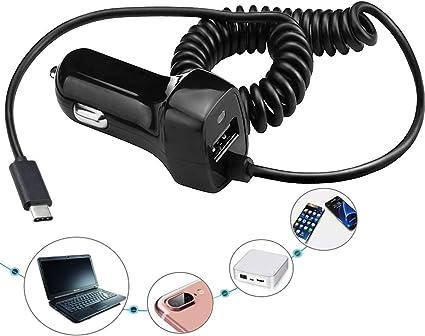 Amazon.com: Cargador de coche USB tipo C para Samsung Galaxy ...