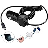 Samsung Galaxy S10 S10+ S10E USB Type C Car Charger, Carhope Ultra Rapid Retractable Dual-Port Charger Adapter USB C Cable for Samsung S9 S8 S9+ Note 8 Note 9 S8 Plus, LG G6 / G5, Google Pixel and Mor