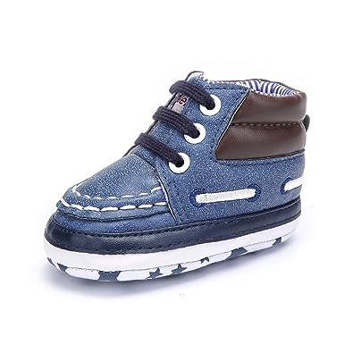 239df2d3112dd DELEBAO Chaussure Bébé Garçon Chausson pour Bebe Premiers Pas Souples  Baskets Enfant Chausson de Marche pour