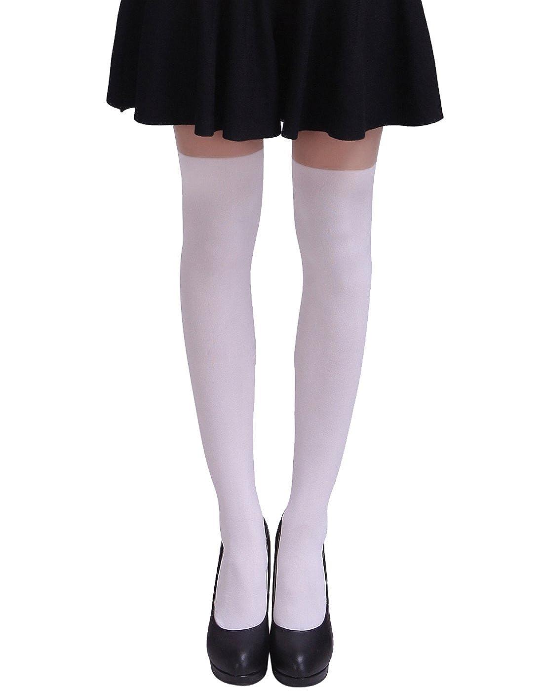 HDE Women's Fun Pattern Printed Tattoo Pantyhose Stockings