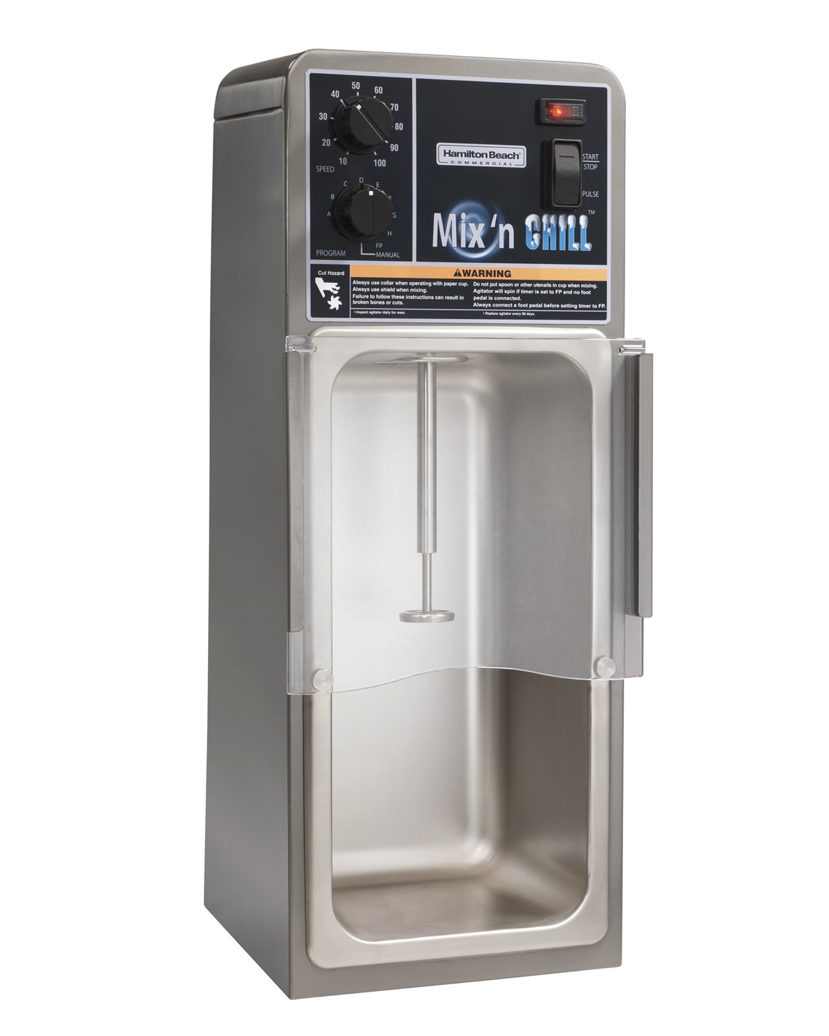 Hamilton Beach Commercial HMD900  Mix 'N Chill Programmable Drink Mixer, 25.78'' Height, 9.15'' Width, 10.14'' Length, Grey