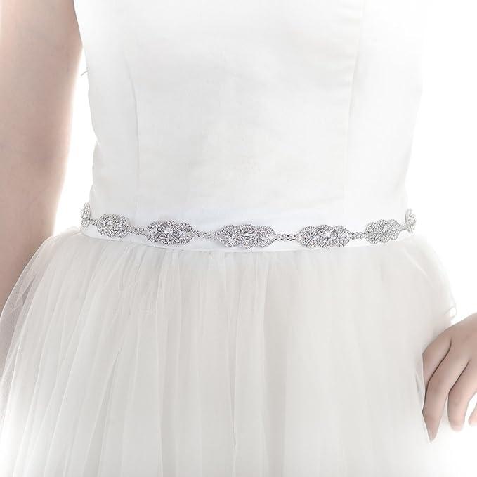 097c62a57e Top Queen Women's Rhinestones Bridal Belt Bridal Sash Wedding Belts ...