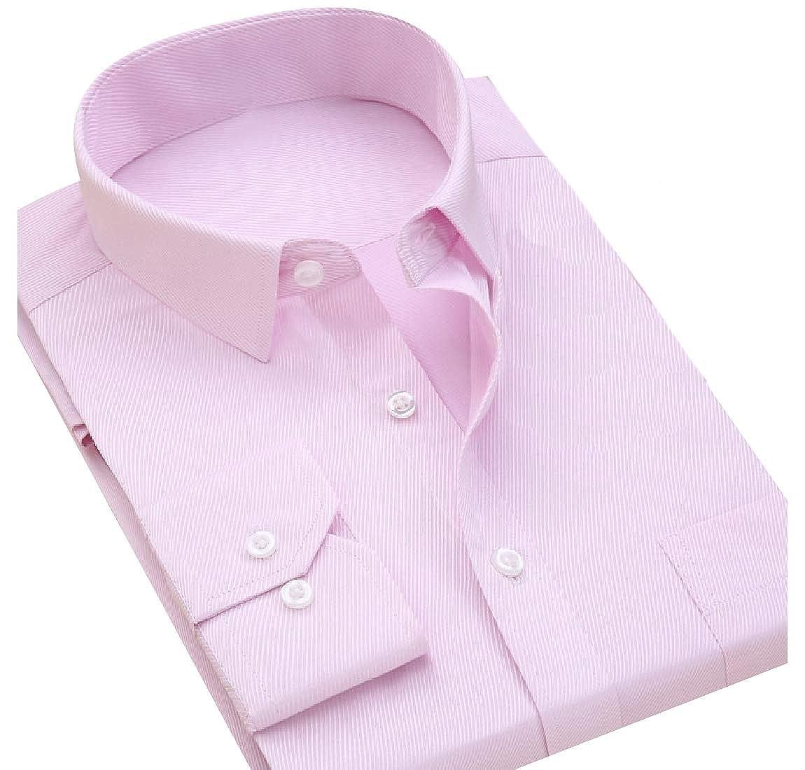 DressU Mens Business Premium Pure Colour Plus Size Polo Shirt