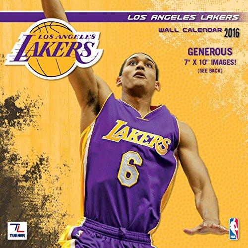 Lang Turner Los Angeles Lakers 2016 Mini Wall Calendar, S...