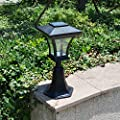 Outdoor LED Solar Powered Fence Gate Post Mount Light Garden Courtyard Solar Lamp Lighting
