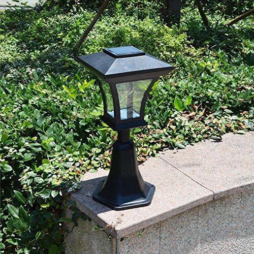Mount Outdoor Lamp (Outdoor LED Solar Powered Fence Gate Post Mount Light Garden Courtyard Solar Lamp)