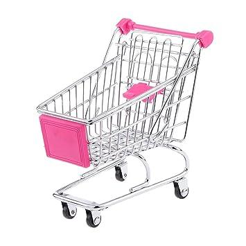 kimberleystore Creative Mini carrito de la compra carro de supermercado carrito con ruedas Asiento (Rosy): Amazon.es: Hogar