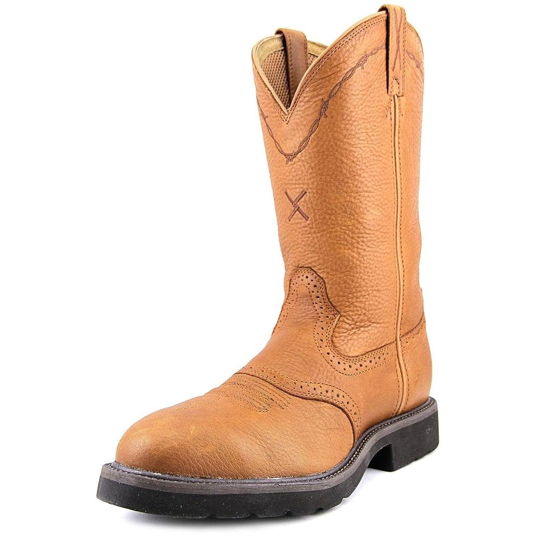 Twisted X Men's Saddle Vamp Pull-On Work Boot Steel Toe - Msc0001