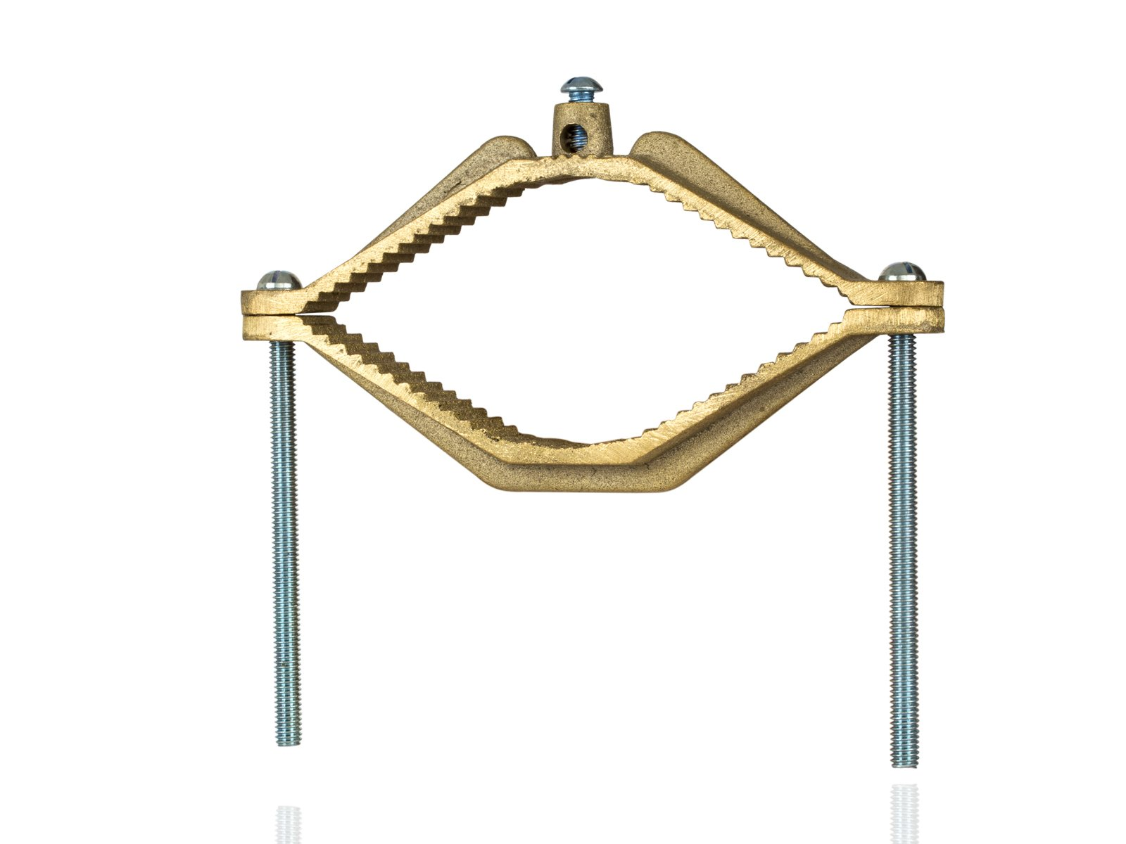 Bronze Ground Clamp, 4-1/2'' - 6'' Water Pipe Size, 10 sol - 2/0 str Ground Wire Range