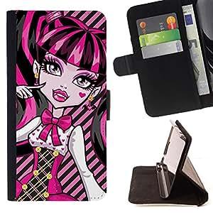 - Cute Sexy Pink Lips Girl/ Personalizada del estilo del dise???¡¯???¡Ào de la PU Caso de encargo del cuero del tir???¡¯????n del s - Cao - For Sony Xperi