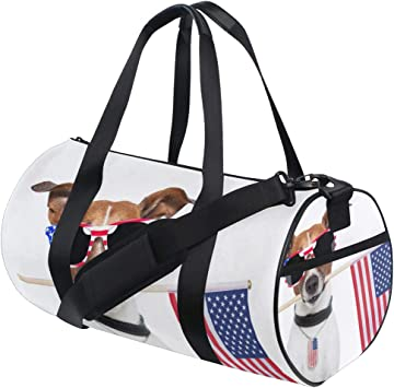 Travel Duffels American Flag Duffle Bag Luggage Sports Gym for Women /& Men