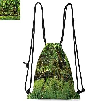 Amazon.com: QuatrefoilPortátil con cordón para mochila ...
