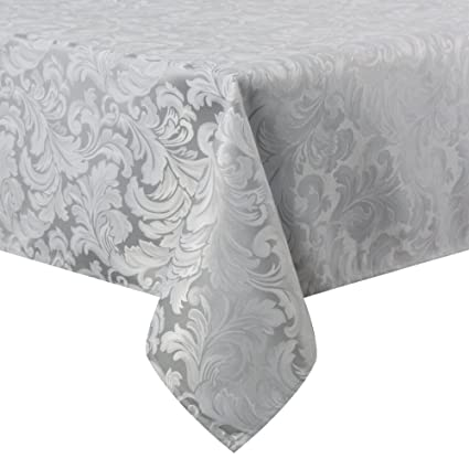 225 & ColorBird Scroll Damask Jacquard Tablecloth Spillproof Waterproof Fabric Table Cover for Kitchen Dinning Tabletop Linen Decor (Rectangle/Oblong 60 x ...