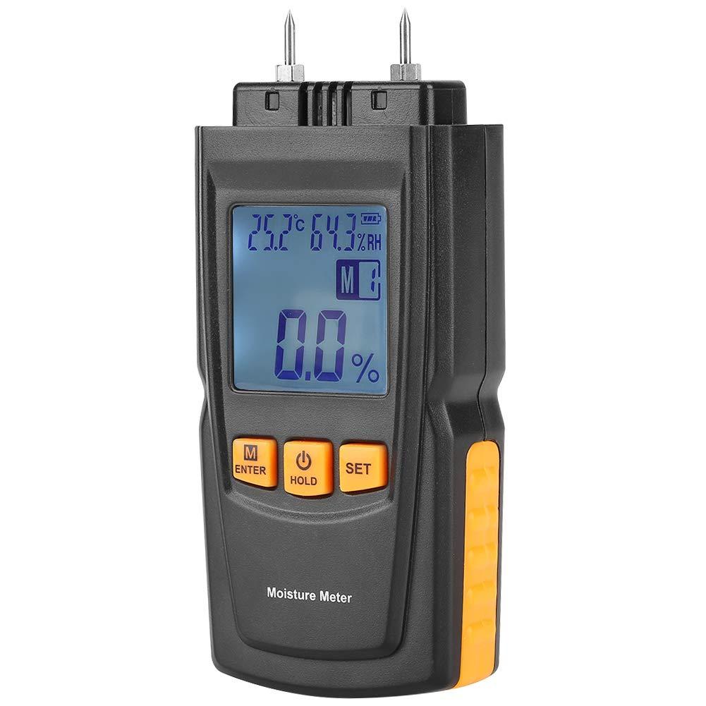 Akozon Medidor de Humedad de Madera Digital LCD 2 Pin Tester para madera paredes techos: Amazon.es: Bricolaje y herramientas