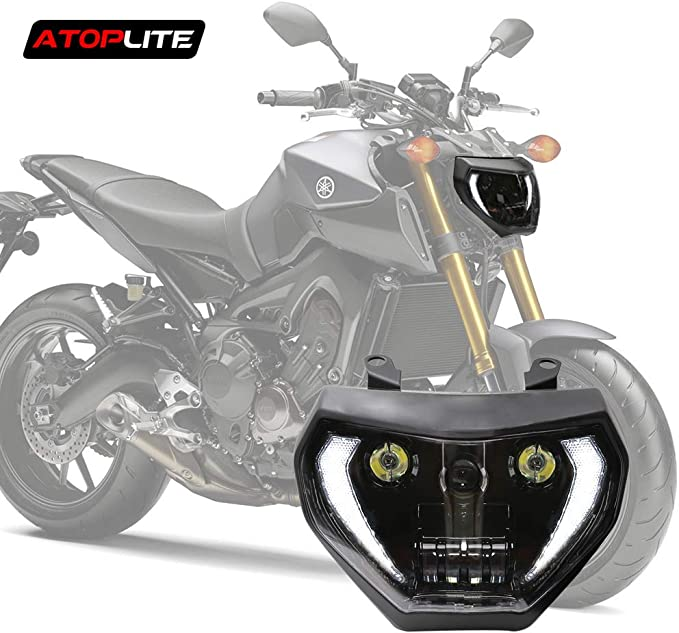 Atoplite Faros Delanteros Led Para Motocicleta Yamaha Mt07 Fz07 2018 Up Y Mt09 Fz09 Automotive