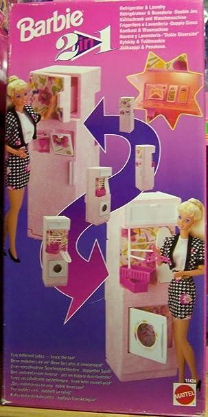 Barbie 2 in 1, Kühlschrank & Waschmaschine: Amazon.de: Spielzeug